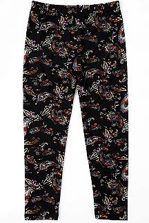PAISLEY PRINT KIDS LEGGINGS