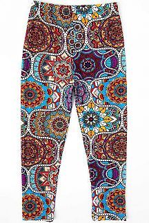 MANDALA PRINT KIDS LEGGINGS