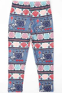ETHNIC PRINT KIDS LEGGINGS