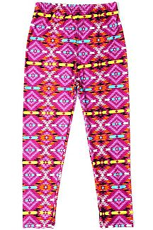 TRIBAL PRINT KIDS LEGGINGS