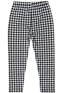 HOUNDSTOOTH PRINT KNIT LEGGINGS