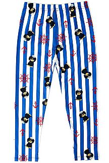 SAILOR PUPPY & STRIPE PRINT LEGGINGS