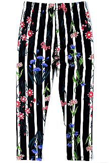 FLORAL & STRIPE PRINT KIDS LEGGINGS