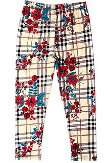 FLORAL & PLAID PRINT KIDS LEGGINGS