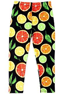 LIME & ORANGE PRINT KIDS LEGGINGS