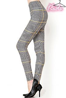 KIDS PLAID PRINT LEGGINGS