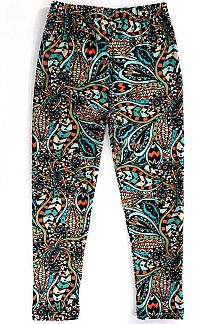 KIDS UNIQUE PAISLEY PRINT LEGGINGS