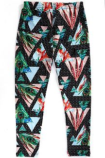 KIDS FEATHER PRINT LEGGINGS