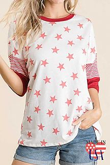 [PREORDER 02/28/20] STAR PRINT KNIT TOP