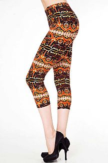 BAROQUE PRINT CAPRI LEGGINGS