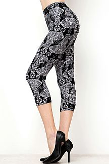 ELEPHANT PRINT CAPRI LEGGINGS