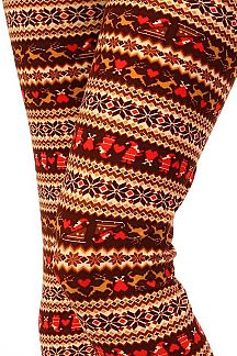 CHRISTMAS FAIR ISLE PRINT LEGGINGS