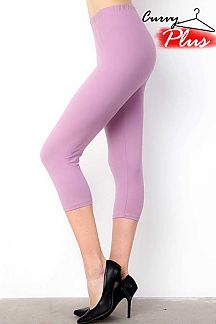 SOLID BRUSHED CAPRI LEGGINGS