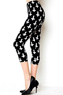 CROSS PRINT CAPRI LEGGINGS