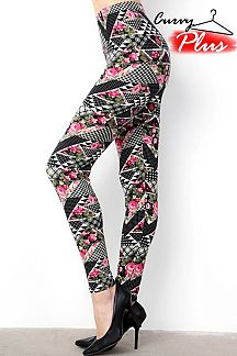FLORAL & ETHNIC PRINT LEGGINGS