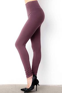SOLID HIGH WAIST LEGGINGS