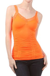Neon Color Seamless Lace tank top