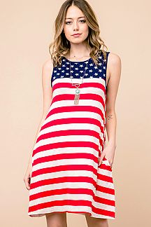 AMERICAN FLAG SWING DRESS