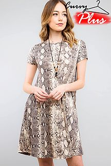 [PRE-ORDER 3/27/19] SNAKESKIN PRINT SWING DRESS