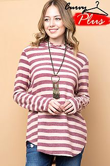 CASHMERE STRIPED HOODIE