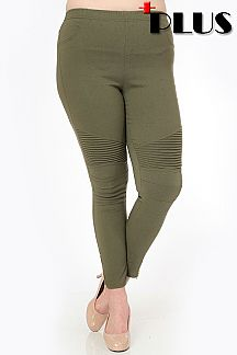 PLUS SOLID MOTO LEGGINGS