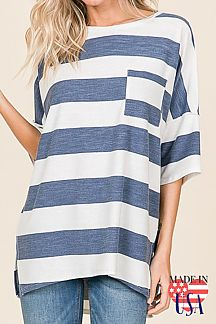 [PREORDER 02/21/19] STRIPED TUNIC TOP
