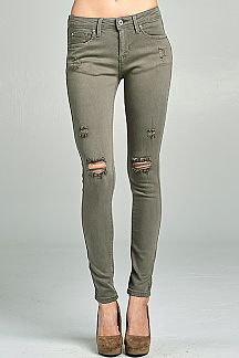 SOLID SKINNY JEAN