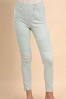 SOLID WASHED MOTO JEGGINGS