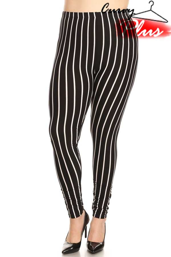 STRIPED PRINT LEGGINGS