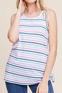 MULTI COLOR PIN STRIPED TANK TOP