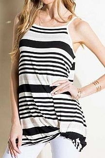 MULTI STRIPED TANK TUNIC TOP