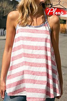 AMERICAN FLAG THEME PRINT HALTER TOP